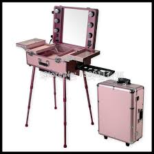 makeup artist box makeup artist station rolling cosmetic with lights mirror