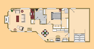 the floor plan of the 725 sq ft