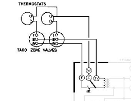 help wiring honeywell aquastat l8148e and 2x taco zone valves