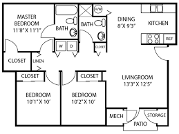 Parkview Apartments Floor Plan 3 4 Bed Apartments Parkview Apartments