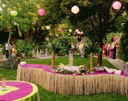 caribbean themed wedding ideas hawiian party decor on found on decoratingblog net