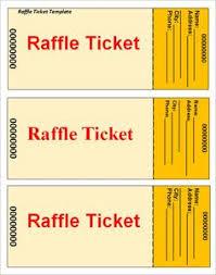 free printable raffle ticket templates templates pinterest