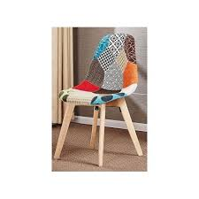 vintage patchwork chair furniture retro fabric dining chairs