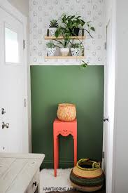 How To Paint An Accent Wall by Entryway Makeover How To Paint A Straight Line Hawthorne And Main