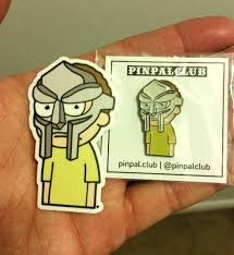 anyone else a fan of mf doom just got this awesome pin and