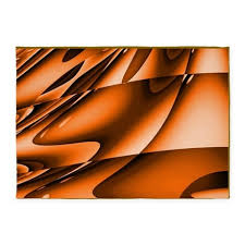 Orange Bathroom Rugs Abstract Burnt Orange 5 U0027x7 U0027area Rug By Markmoore Burnt Orange