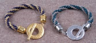 make leather woven bracelet images Diy leather chain kumihimo braid bead shop girl jpg