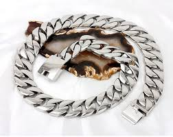 titanium curb chain necklace images Super heavy thick 24mm mens gold silver curb cuban link flat round jpg