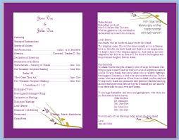 Fun Wedding Programs Templates Templates U2022 Diy Wedding