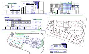 building plan office building plan detail view dwg file