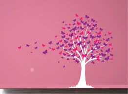 Vinyl Tree Wall Decals For Nursery by Wall Decal Butterfly Tree Girls Vinyl Wall Art Decal Sticker