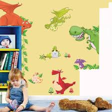 compare prices on dinosaurs mural online shopping buy low price diy animals dinosaur mural vinyl wall sticker decals kids nursery room decor kku china