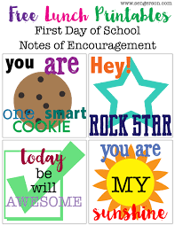 back to lunch box printables