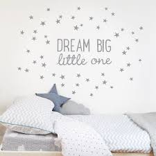 fabric wall stickers and decals for baby nursery and children s rooms dream big little one wall sticker