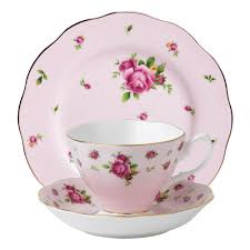 royal albert new country roses pink teacup saucer plate set