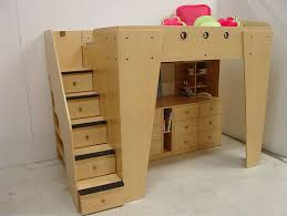 berg furniture kid u0027s headquarters loft bed with storage