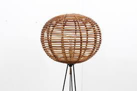 Rattan Table Lamp Mid Century Rattan Floor Lamp For Sale At Pamono