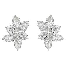 diamond cluster earrings estate harry winston diamond cluster earrings betteridge