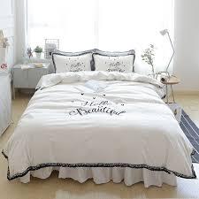 Princess Duvet Cover Aliexpress Com Buy White Princess Bedding Set King Queen Size
