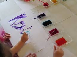 our names in watercolor teach preschool