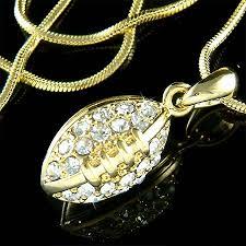 swarovski gold necklace crystals images Swarovski crystal 3d gold plated american football saints ball jpg