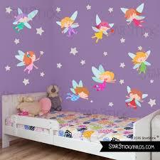 chambre fee fée étoiles sticker enfant