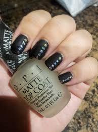 nail art black matte nail polish designs easy party art for new