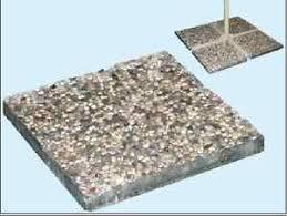 peso ghiaia base cemento ghiaia ombrellone laterali quadrata 40x40x3 5 peso 13