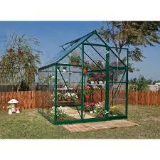 Palram Hybrid Greenhouse Palram Polycarbonate Greenhouse Green 6x6 At Wilko Com