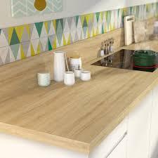 plan de travail cuisine stratifié leroy merlin plan de travail stratifié effet chêne naturel mat l 315 x p 65 cm
