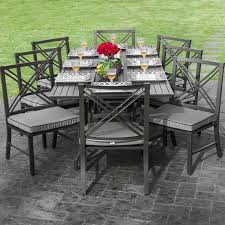Patio Chair Material by Patio Black Metallic Material Patio Furniture Sets With Gray