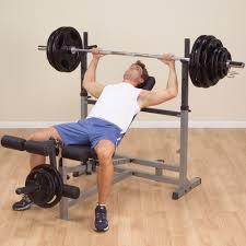 amazon com body solid gdib46l olympic bench with leg developer