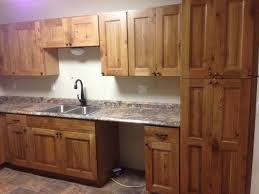 Wow Look How Small This Kitchen Is But Looks Very Efficient Great - Rustic pine kitchen cabinets