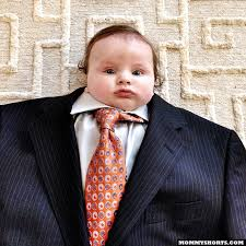 Man Baby Meme - baby suiting a photo meme where babies are dressed in oversized suits