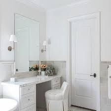 Bathroom Tile Black And White - half tiled bathroom walls design ideas