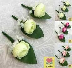 wedding flowers buttonholes 3 x artificial silk small peony flower buttonholes wedding flowers