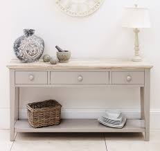 Corner Tables For Hallway New Console Table Inside Aspen Painted Oak With Shelf 2