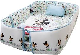 Mickey Mouse Baby Bedding Disney Mickey Mouse Printed Baby Bedding 4 Piece Set Blue A01