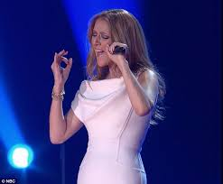 celine dion wows in white to perform on michael buble u0027s festive