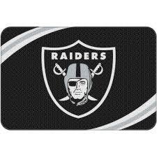 Grey Bathroom Rug by Nfl Oakland Raiders 20