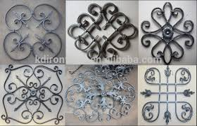 ornamental wrought iron components forged iron rosettes or panels
