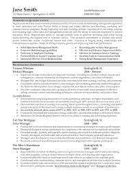 Resume For Store Manager Cv Template For Retail Stores