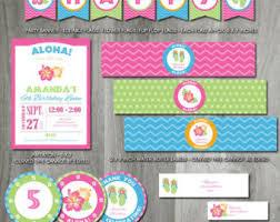 Printable Hawaiian Decorations Printable Invitations And Party Decorations By Charliesprintables