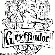 harry potter gryffindor crest coloring pages