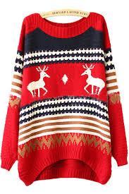 25 12 tacky reindeer stripe pattern womens
