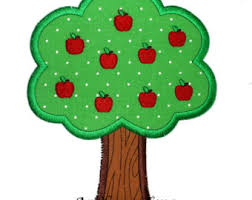 apple tree applique etsy