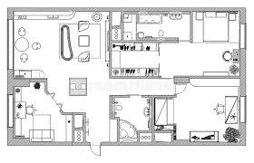 architect plan furniture is on architect plan stock image image of layout