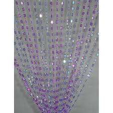 Emerald Curtain Panels by 3 U0027 X 6 U0027 Foot Beaded Curtain Panels Emerald Cut Gem Acrylic
