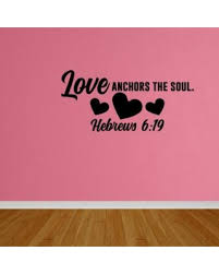 Quot Love Anchors The Soul - deals on wall decal quote love anchors soul wall art decal quote