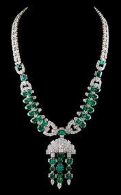 platinum necklace diamond images Platinum emerald diamond necklace see more stunning jewelry at jpg